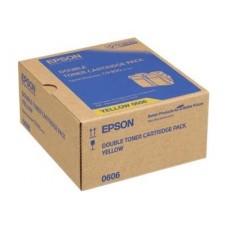 TWIN PACK CARTUS TONER YELLOW C13S050606 (2buc X7500pg) ORIGINAL EPSON ACULASER C9300N