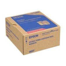 TWIN PACK CARTUS TONER MAGENTA C13S050607 (2buc X7500pg) ORIGINAL EPSON ACULASER C9300N