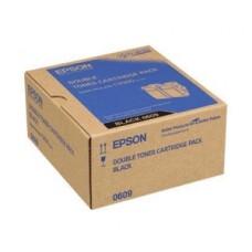 TWIN PACK CARTUS TONER BLACK C13S050609 (2bucX6500pg) ORIGINAL EPSON ACULASER C9300N