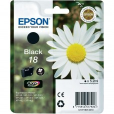CARTUS BLACK NR.18 C13T18014010 5,2ML-175pg  ORIGINAL EPSON XP-102
