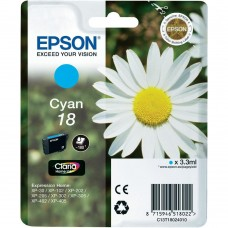 CARTUS CYAN NR.18 C13T18024010 3,3ML ORIGINAL EPSON XP-102