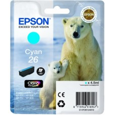 CARTUS CYAN NR.26 C13T26124010 4,5ML ORIGINAL EPSON XP-600