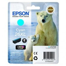 CARTUS CYAN NR.26XL C13T26324010 9,7ML ORIGINAL EPSON XP-600