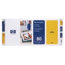 CAP IMPRIMARE & CLEANER YELLOW NR.80 C4823A ORIGINAL HP DESIGNJET 1050