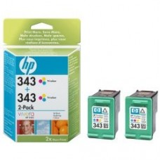 TWIN PACK CARTUS COLOR NR343 CB332EE 7ML ORIGINAL HP DESKJET 6540