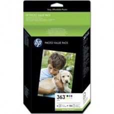 VALUE PACK PHOTO 6 CARTUSE NR363 Q7966EE ORIGINAL HP PHOTOSMART 8200