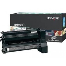 CARTUS TONER BLACK RETURN C7700KS 6000pg ORIGINAL LEXMARK C770N