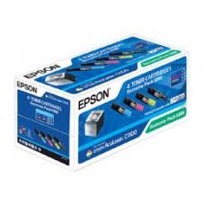 MULTIPACK CMYK ECONOMY C13S050268 ORIGINAL (1buc x 1400, 3buc x 1500 ) EPSON ACULASER C1100