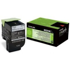 CARTUS TONER BLACK RETURN NR.802HK 80C2HK0 4000pg ORIGINAL LEXMARK CX410E