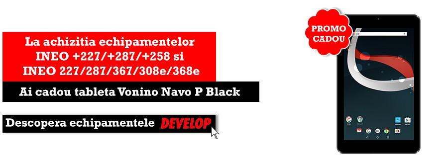 Promo Vonino - Tableta cadou la achizitia echipamentelor develop
