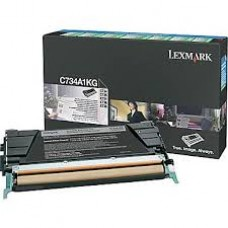 CARTUS TONER BLACK RETURN C734A1KG 8K ORIGINAL LEXMARK C734N