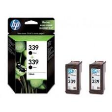 TWIN PACK CARTUS BLACK NR339 C9504EE 2X21ML ORIGINAL HP DESKJET 6540