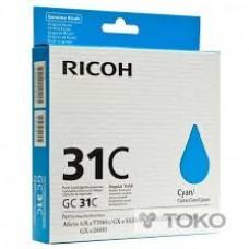 CARTUS GEL CYAN GC-31C 405689 -1000pg ORIGINAL RICOH AFICIO GX E3300N